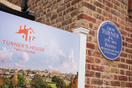 Turner's House Twickenham Blue Plaque and Welcome Panel