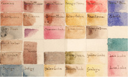 Turner watercolour chart